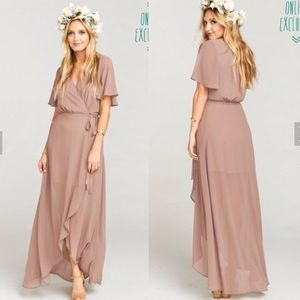 Sophia wrap dress - dune chiffon